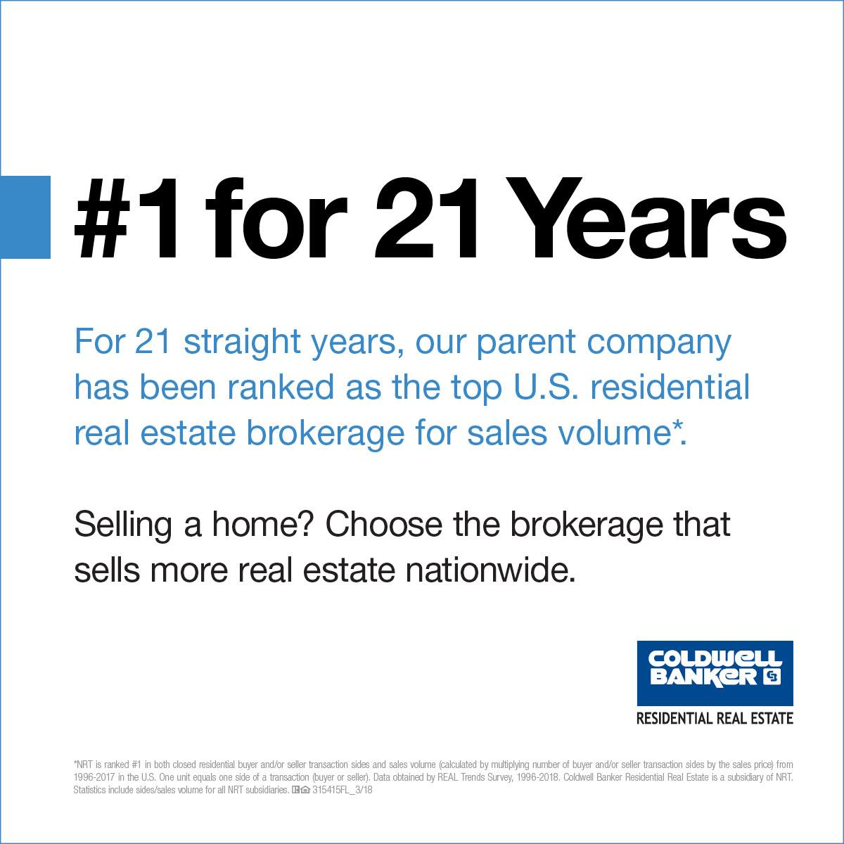 #1 for 21 Years